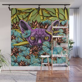 The Sphynx and the Flowers Wall Mural