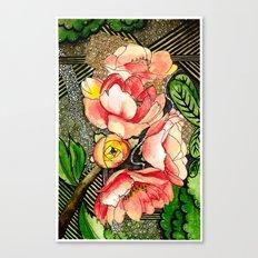 Flower Mixed-Media Canvas Print