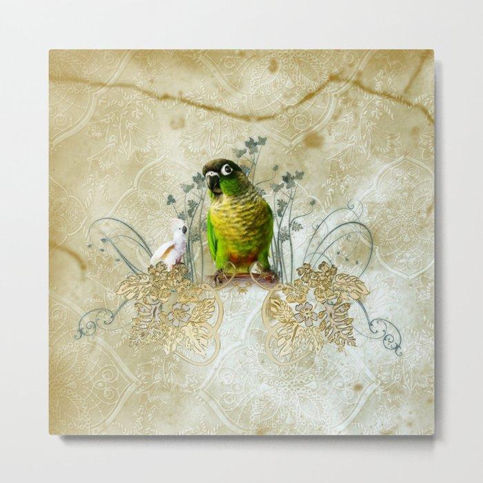 Wonderful, cute parrot Metal Print