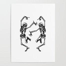 Duo Dancing Skeleton Poster