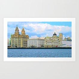 Liverpool Water Front Art Print