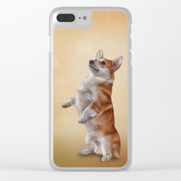 Dog breed Welsh Corgi Clear iPhone Case