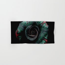 Dark Rose - Abstract Floral Photography by Fluid Nature Hand & Bath Towel