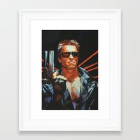 terminator Framed Art Prints featuring Terminator by K-mu Toma