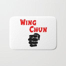 wing chun fist Bath Mat