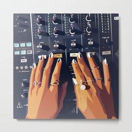 HB DJ Nails Metal Print