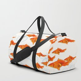 ABSTRACT GOLD FISH SWIMMING ART  DESIGN Duffle Bag