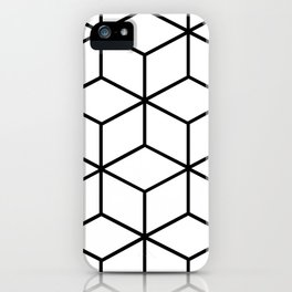 Black and White - Geometric Cube Design I iPhone Case