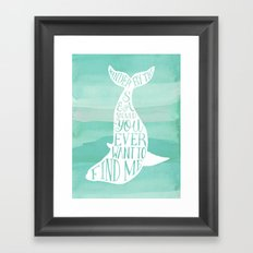 Wander By The Sea Should You Ever Want To Find Me Art Print Framed Art Print