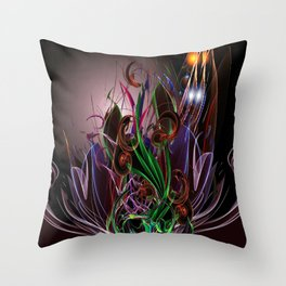 Moonlight Garden Throw Pillow