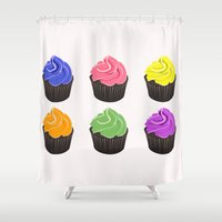 cupcakes Shower Curtains featuring Cupcakes by kourai