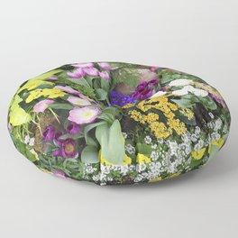 Floral Spectacular - Spring Flower Show Floor Pillow