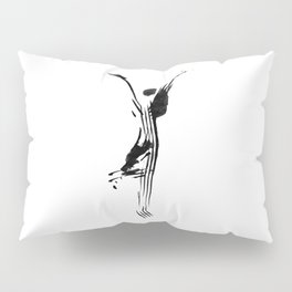 Black and white, minimalist, modern yoga pose illustration for yoga studio, yoga art, drawing, om Pillow Sham