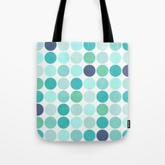 the blue dots Tote Bag