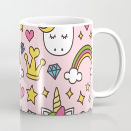 Unicorn Princess Pattern Coffee Mug