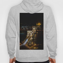 Szechenyi Chain bridge over Danube river, Budapest, Hungary. Hoody