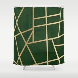 Golden green Shower Curtain