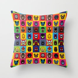 Supers: Mural Throw Pillow