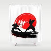 ninja Shower Curtains featuring Ninja by Emir Simsek