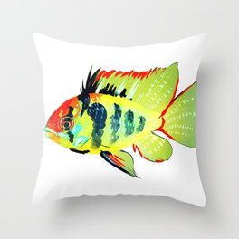 Ram Cichlid Throw Pillow