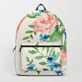 Watercolor Peonies Backpack