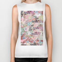 Tucson map flowers Biker Tank