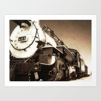 train Art Prints featuring Train by SteeleCat