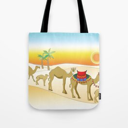 Exodus, Camels in the Desert, Passover Tote Bag