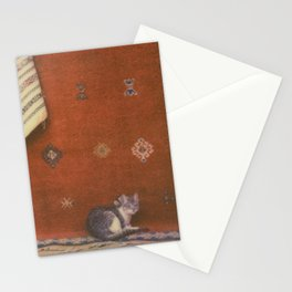 Cat on a Rug Stationery Cards
