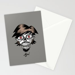 Armin's Faces - #009 - skull Stationery Cards