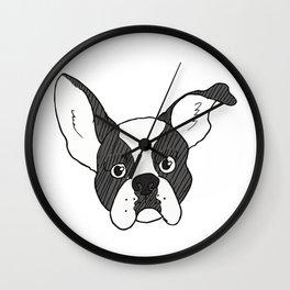 Grumpy Boston Terrier Wall Clock