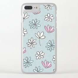 Cute Floral Ditsy Pattern Clear iPhone Case