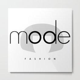 Edna Mode Fashion (logo big) Metal Print