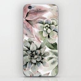 Circular Succulent Watercolor iPhone Skin