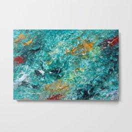 """Leprechaun's Koi Pond"" Painting Metal Print"