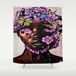 CHILD OF FLOWER Shower Curtain
