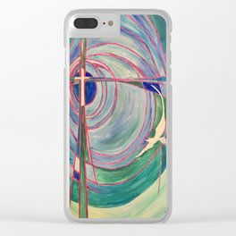 Cross and Dove Clear iPhone Case