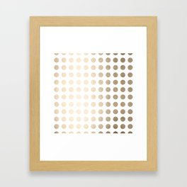Simply Polka Dots in White Gold Sands Framed Art Print