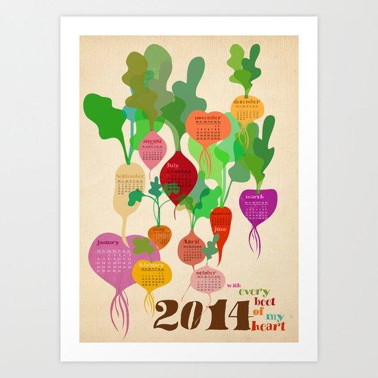2014 beets Art Print