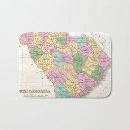 Vintage Map of South Carolina (1827) Bath Mat