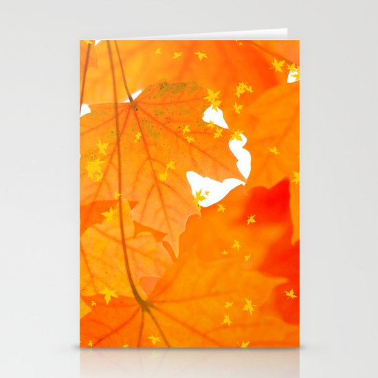 Fall Orange Maple Leaves On A White Background #decor #society6 #buyart by pivivikstrm