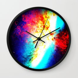 Bright & Colorful Galaxy Messier 82 Wall Clock
