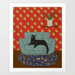Le salon du  chat Art Print