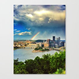 Pittsburgh: Rainbow from Mt. Washington Canvas Print
