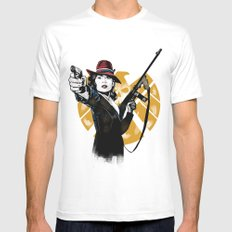 Agent Peggy Carter MEDIUM Mens Fitted Tee White