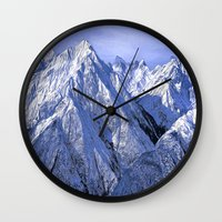 giants Wall Clocks featuring Giants by Robin Curtiss