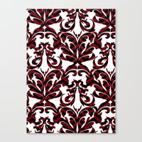 damask Canvas Prints featuring Damask by Annie Skrmetti