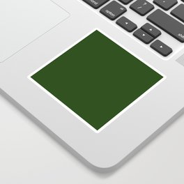 Solid Dark Forest Green Simple Solid Color All Over Print Sticker