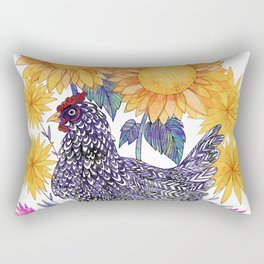 Backyard Chicken Rectangular Pillow