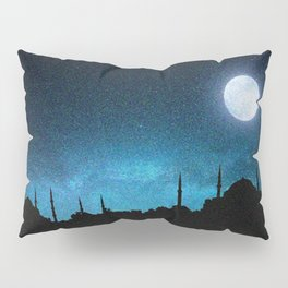 Istanbul, Hagia Sophia and Blue Mosque; Starry Night Pillow Sham